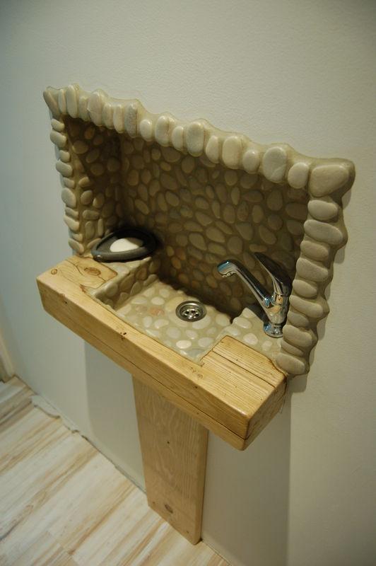 Mas Cévennes Rénovation - Lave mains fabrication maison