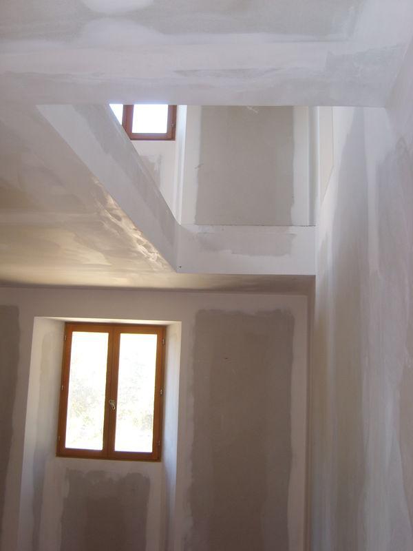 Mas Cévennes Rénovation - Cloisonnage en plaques de platre