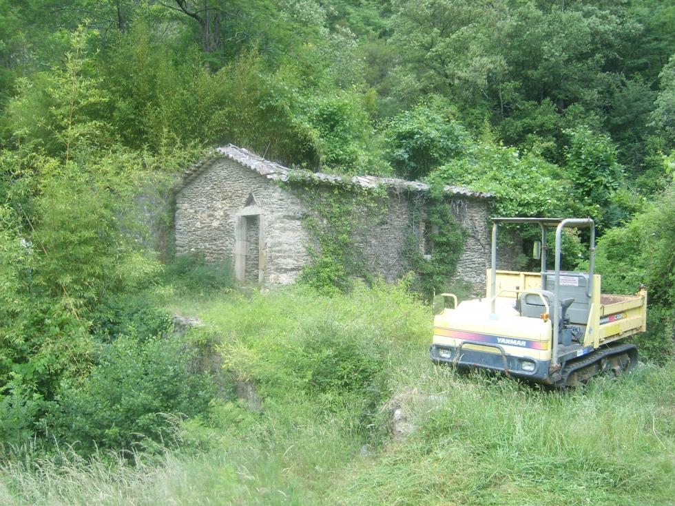 Mas Cévennes Rénovation - Moulin et pont avant rénovation