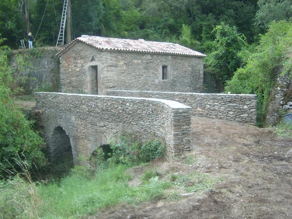 Mas Cévennes Rénovation - Moulin et pont après rénovation