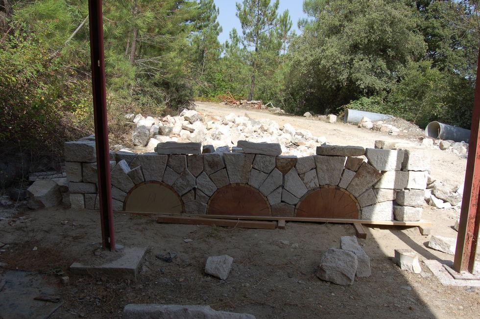 Mas Cévennes Rénovation - Taille de pierre en cintre