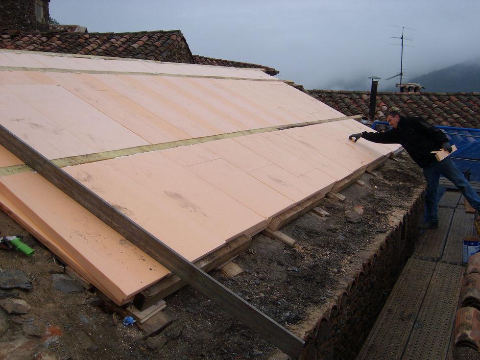 Mas Cévennes Rénovation - Isolation sur charpente