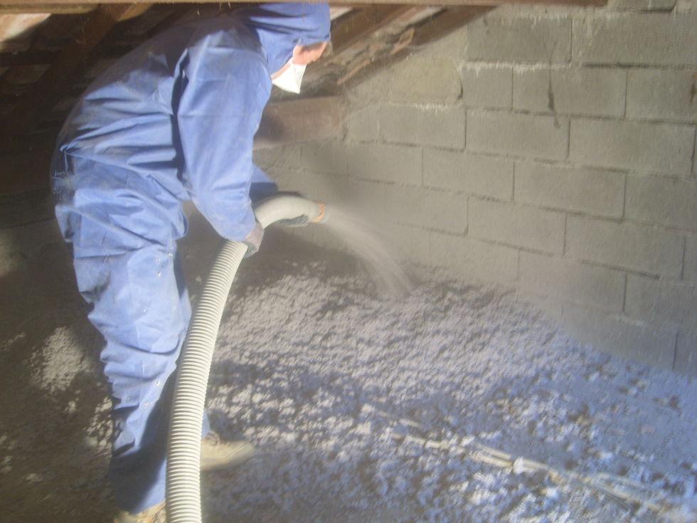 Mas Cévennes Rénovation - Isolation de combles par ouate de cellulose soufflée